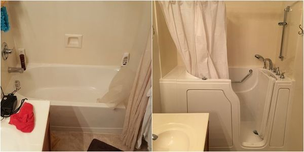Bathtub Conversion to Walk in Tub in Knoxville, TN (1)