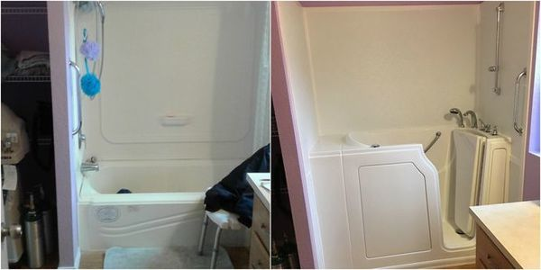 Standard Bathtub to Walkin Tub Conversion in Knoxville, TN (1)