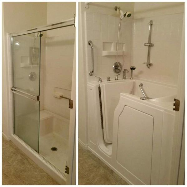 Shower to Walk In Tub Conversion in Knoxville, TN (1)
